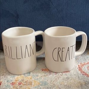 Set of two Rae Dunn brilliant and create mugs